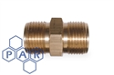 "1"" male x 1"" flat male brass adaptor"