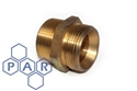 "3/8"" bsp coned male x ¼"" bspt male brass"