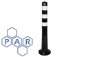 800hx75Ø black/white pu flexible bollard