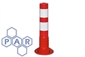 460hx80Ø red/white pu flexible bollard