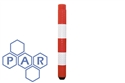 1000hx100Ø red/white pe flexible bollard