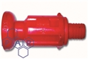 "red mushroom fire nozzle x ¾"" hose tail"