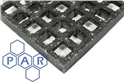 3007x1007x14mm blk grp grating 12mm mesh