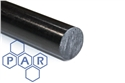 25Ø black extruded mos2 nylon 6 rod